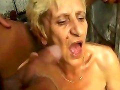 Gross Granny gets DP cum pee farts by satyriasiss