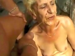 Gross Granny gets DP cum urinate farts by satyriasiss