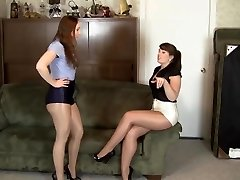 lesbian shiny hose servitude