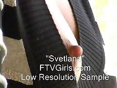 Kinky flexibilné mlieko dievča Svetlana prípojného vozidla