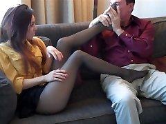 najlon noge nahod vonjem footjob dekle citter pantyhose dom vonjem t