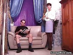 Sexy sekretārs Liz izpaužas saistīts ar kinky part6