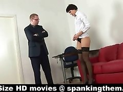 Spanked by aggressive chief