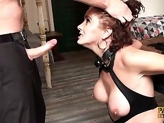 Mature roughed, cuffed & jammed in the culo
