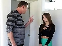 Super Hot Step-Daughter Punished After Partying