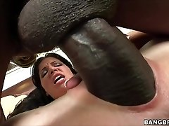 Rebeca Linares shrieks on Monster Hard-on