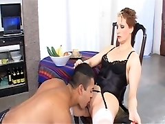 Female Domination COUGAR with a food fetish