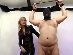 Mistress torment balls and hard-on