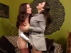 Nylon Stocking VS Pantyhose - Fetish lesbo dominance