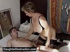 Lindo hija adolescente extremadamente monsterfucked
