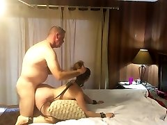 Hot subjugated MILF getting pounded and slapped