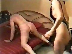 My wife severely disciplined by a domina. Home made video