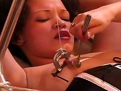 Female slave gets instructed and tormented