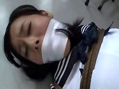 Japanese schoolgirl kidnapped and bound