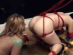 Immensely hardcore SADISM & MASOCHISM rope sexing with anal action
