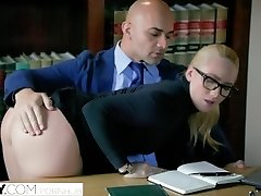 TUSHY انحنا AJ Applegate Punished By Her Boss