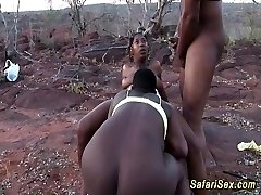 african hook-up safari threesome fuckfest