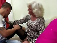 Granny go rigid with young pervert boy