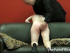 Mischievous spanking and brutal blowjob of dominated slavesex slave