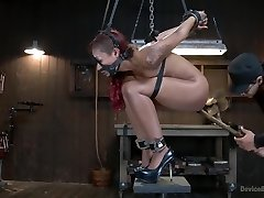 Rising from the ash Skin Diamond is screwed ferocious bondage!!