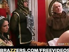 The queen gets caught cuckold and is punished with rough-romp