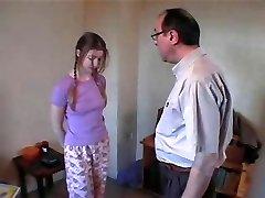 Dad & Friend Smack Pretty Daughter xLx