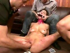 Brutālo BDSM Dubultā Penetratopn Gangbang