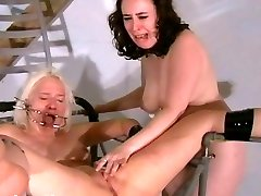 Two slaves bizarre vagina punishments and whipping to tears