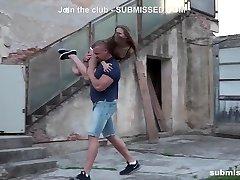 Fighting Babe Sarah Kay street pickup gagged subb'ed fuckd