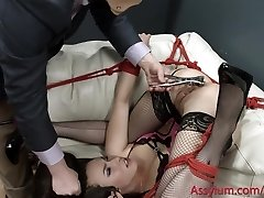 Casey Calvert gets corded up, predominated, and degraded at the mental clinic