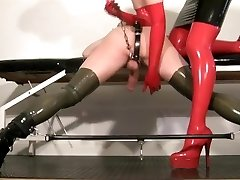 My slave femdom vid - Milking my rubber bitch