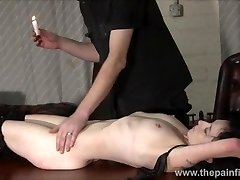 Kinky leather marionette Fae Corbins first-timer bdsm and hot wax penalty and enslaved training in obedience in pain