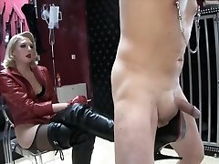 Blonde domina Boots torture