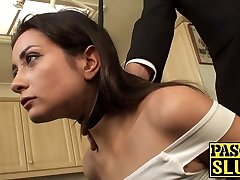 Pretty obedient bi-atch tied up and ass rammed by maledom