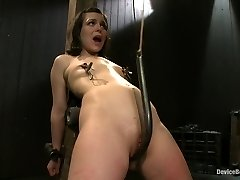 Pretty gets punished - double penetration and made to squirt into tiredness