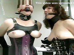 Restrain Bondage girl in cage
