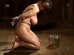 busty brunetė mergina su unikaliu boobs