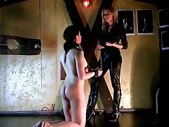 Italian Lesbian Domination - Whipping and face slapping