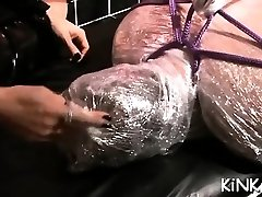 Hard double booty handballing and toy insertion for ready sub