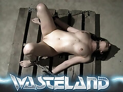Pretty BDSM Subordinated Blindfolded, Tied And Punished By Dungeon Master