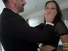 PASCALSSUBSLUTS - Busty Barbara Bieber gagging on dom beef whistle