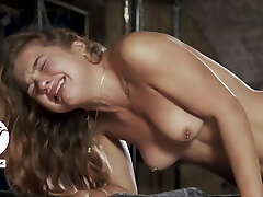 Tight babe crying from brutal approach