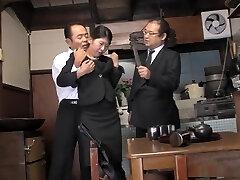 Ultra-kinky housewife, Aoi Wajo is playing rough sex games