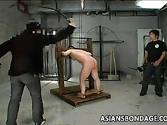 Japanese bitch has a waxing and spanking bdsm se