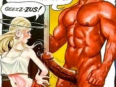 Skinny Horny Blondie Huge Cocks