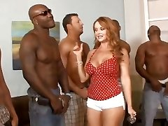 5 interracial studs lineup so that housewife Janet Mason can choose the best