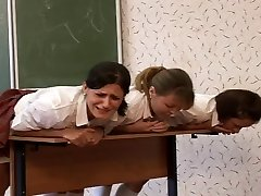 3 vene schoolgirls caned
