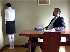 hard thrashing of a schoolgirl