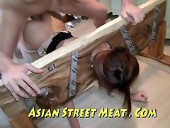 Oriental Sweety Sodomised In Stockings And Stocks
