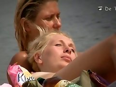 Mature hotties filmed by a nude beach weirdo